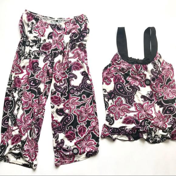 355d69e519 Linea Donatella Other - Macys pajama cami and loose capri set